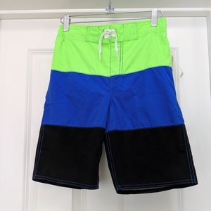 NWT Old Navy color block boys board shorts